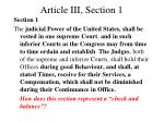 article iii section 1