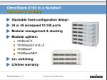 omnistack 6100 in a nutshell stackable l2 switching