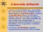a beavat s defin ci i1