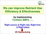 we can improve nutrient use efficiency effectiveness