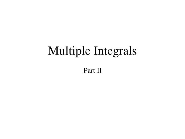 multiple integrals n.