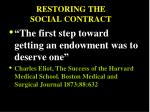 restoring the social contract