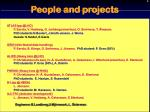 people and projects