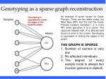 genotyping as a sparse graph reconstruction