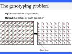 the genotyping problem