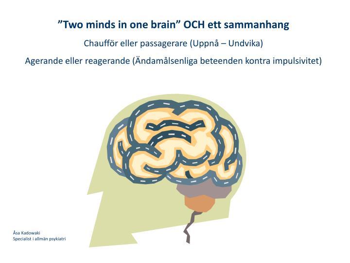 """Two minds in one brain"" OCH ett sammanhang"