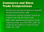commerce and slave trade compromises
