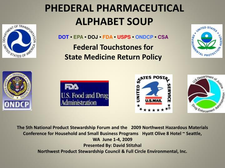 phederal pharmaceutical alphabet soup