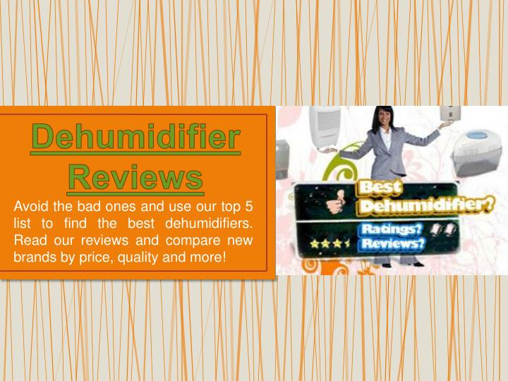 dehumidifier reviews n.