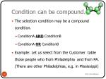 condition can be compound