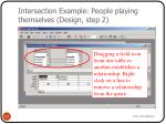 intersection example people playing themselves design step 2