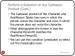 perform a selection on the cartesian product cont
