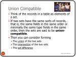 union compatible