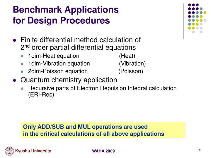 Benchmark Applications
