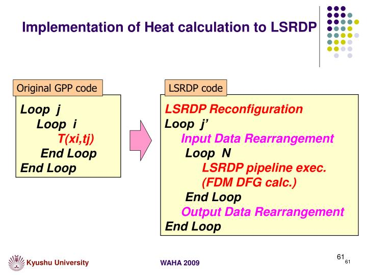 Implementation of Heat calculation to LSRDP