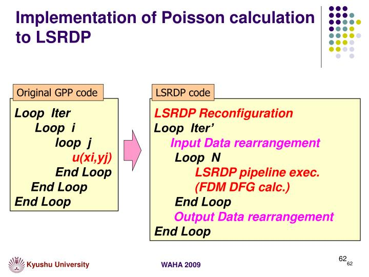 Implementation of Poisson calculation to LSRDP