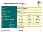 lsrdp at one glance 1 2