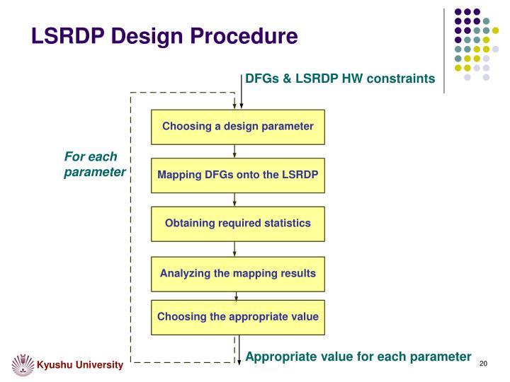 LSRDP Design Procedure