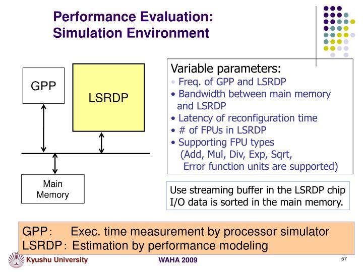 Performance Evaluation: