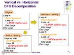 vertical vs horizontal dfg decomposition