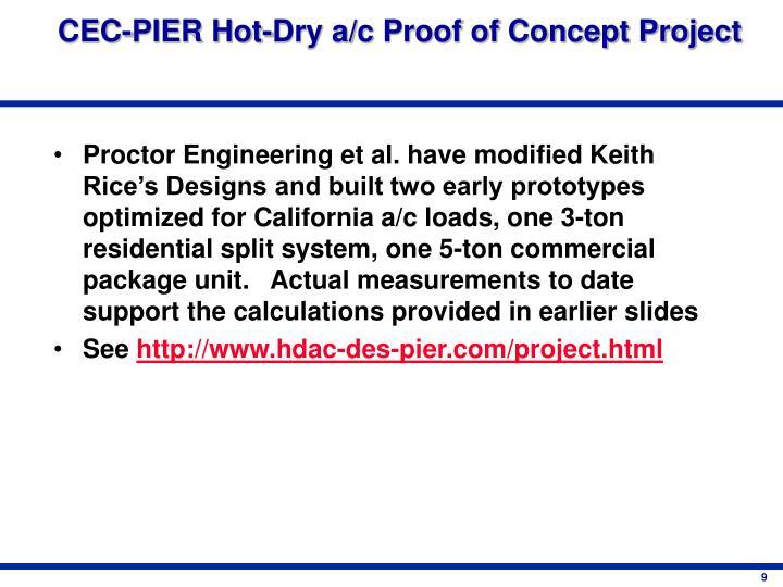 CEC-PIER Hot-Dry a/c Proof of Concept Project