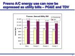 fresno a c energy use can now be expressed as utility bills pg e and tdv