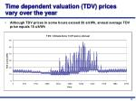 time dependent valuation tdv prices vary over the year