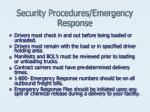 security procedures emergency response