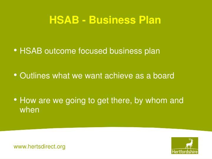 HSAB - Business Plan