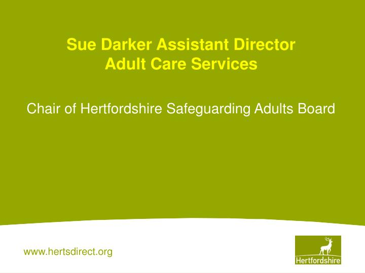 sue darker assistant director adult care services n.