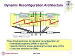 dynamic reconfiguration architecture