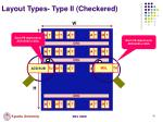 layout types type ii checkered