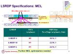 lsrdp specifications mcl