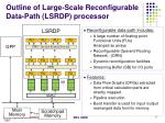 outline of large scale reconfigurable data path lsrdp processor