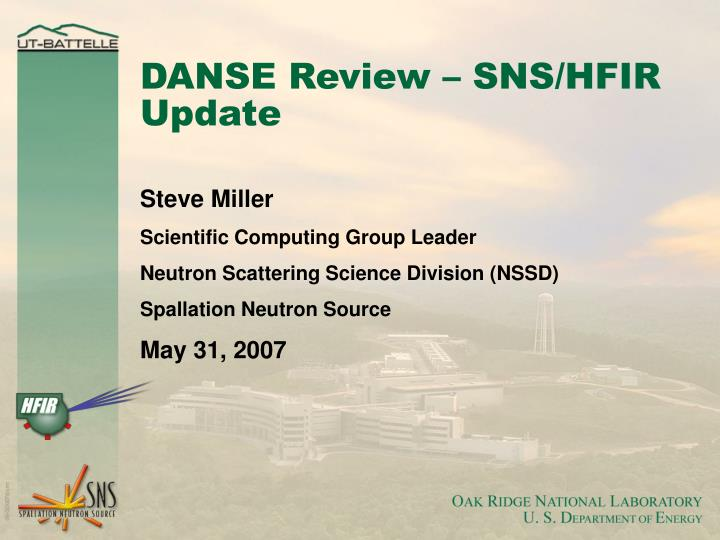 danse review sns hfir update n.