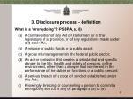 3 disclosure process definition