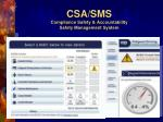 csa sms compliance safety accountability safety management system