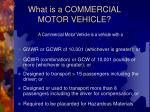 what is a commercial motor vehicle