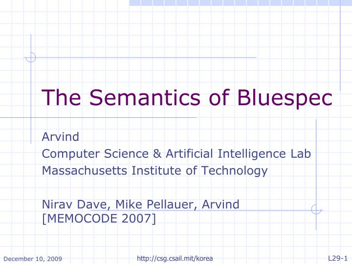 the semantics of bluespec n.