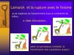 lamarck et la rupture avec le fixisme