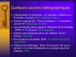 quelques sources bibliographiques1