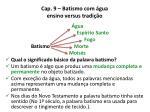cap 9 batismo com gua ensino versus tradi o3