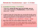 retirado de i tessalonicenses cap v c r stam1