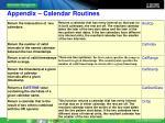 appendix calendar routines