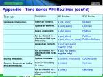 appendix time series api routines cont d2