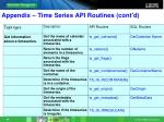 appendix time series api routines cont d5