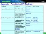 appendix time series api routines