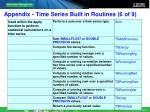 appendix time series built in routines 6 of 9