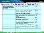 appendix time series built in routines 7 of 9