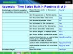 appendix time series built in routines 8 of 9